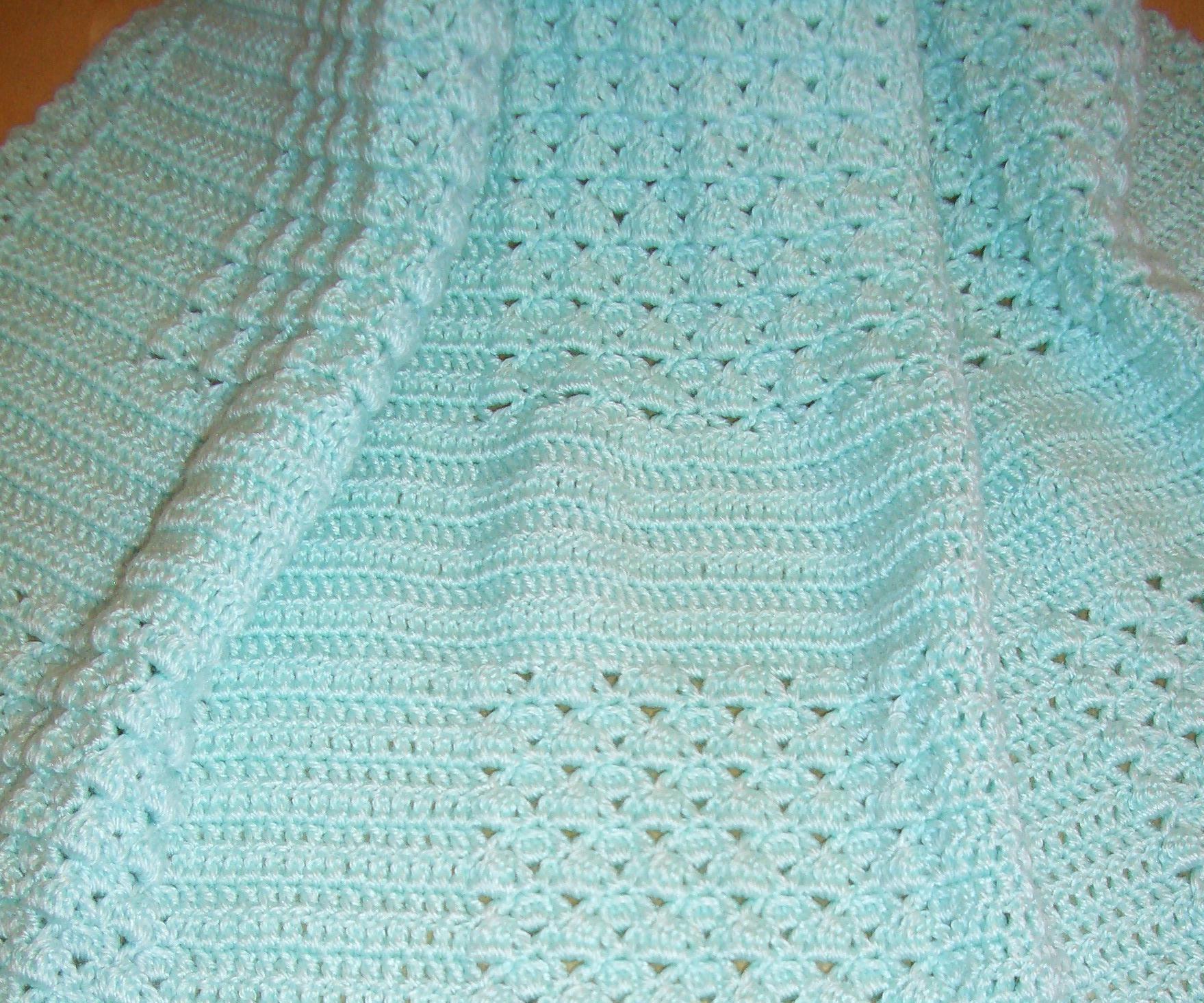 Free Crochet Pattern Heirloom Baby Blanket : FREECROCHETBABYBLANKETPATTERNS